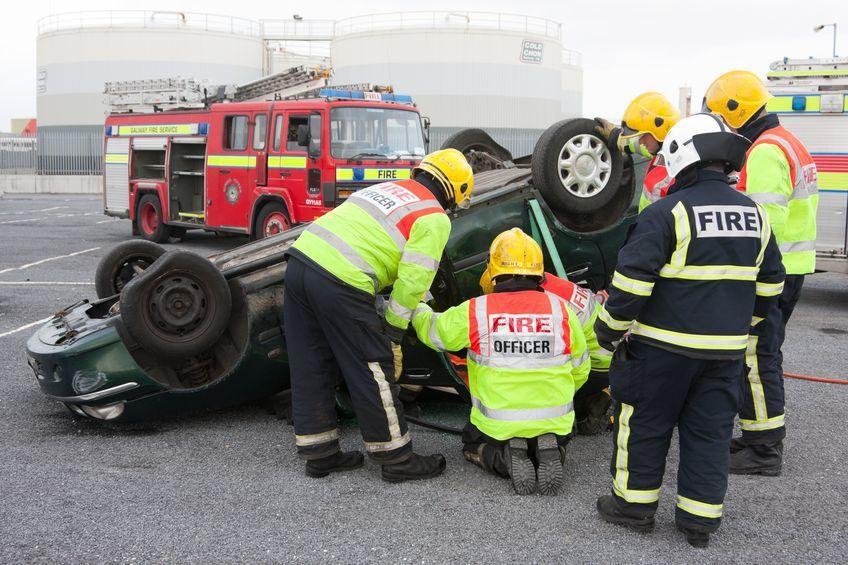 發生車子火災及時脫困是關鍵。 圖/正德防火