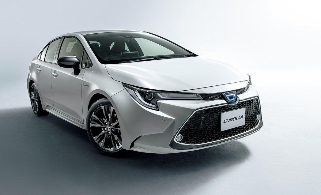 日規Toyota Corolla Sedan。 摘自Toyota