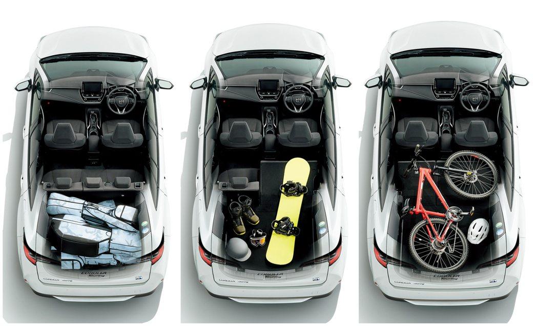 日規Toyota Corolla Touring置物空間。 摘自Toyota