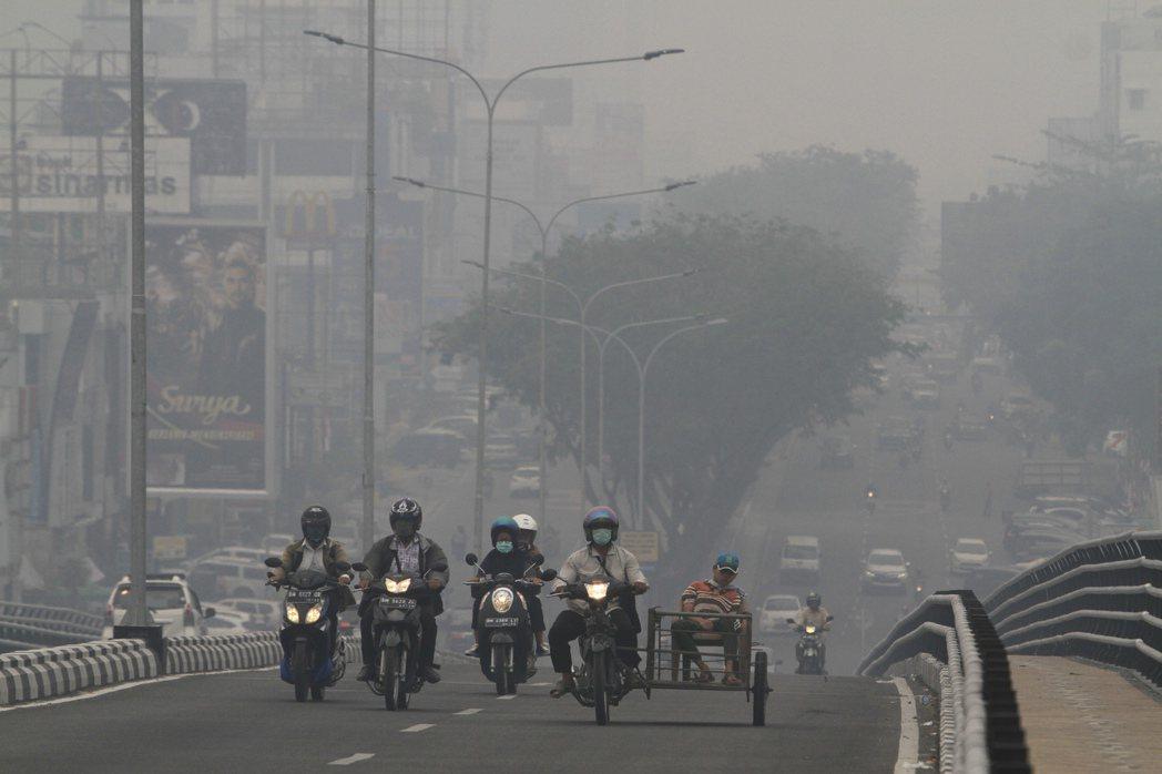 印尼受到這波霾害衝擊最為嚴重的地區,主要為蘇門答臘島西部的廖內、占碑、南蘇門答臘...