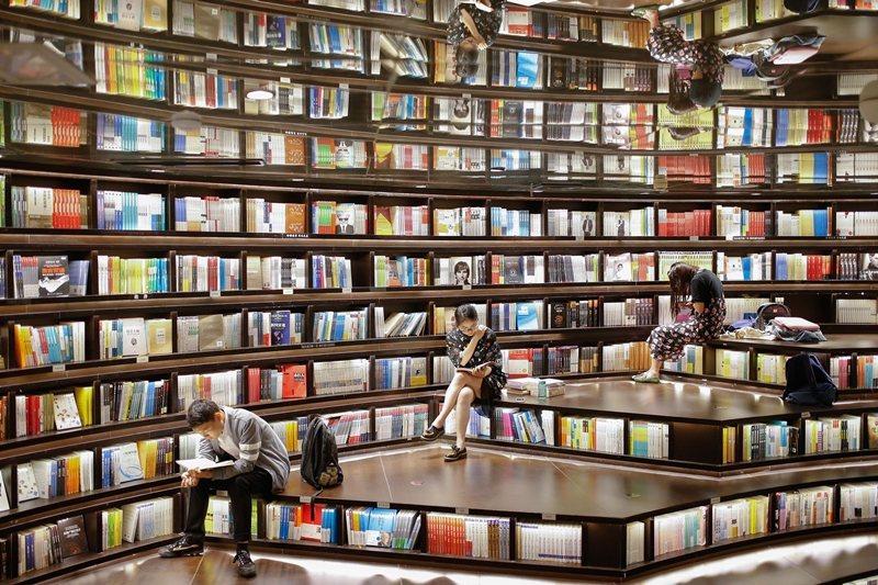 中國揚州鐘書閣書店。 圖/新華社