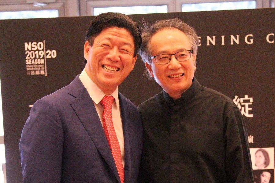 指揮呂紹嘉(右)與鋼琴家劉孟捷(左)合作無間,將帶來經典的《豪情初綻》音樂會。(...