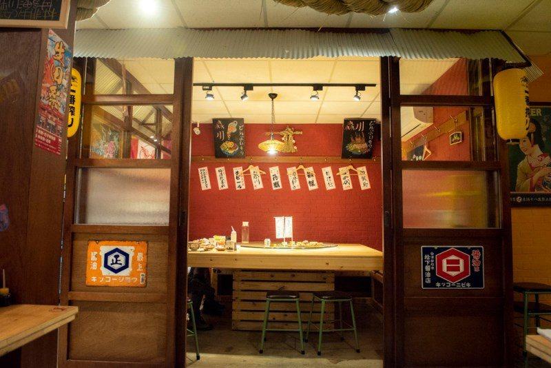 ▲森川大橋橫町擁有小包廂可提供聚餐使用,有需要的朋友可以提前預約。
