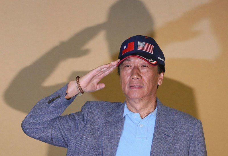 郭台銘的聲明寫道,雖不參選總統,不表示會放棄參與政治事務。攝影/柯承惠