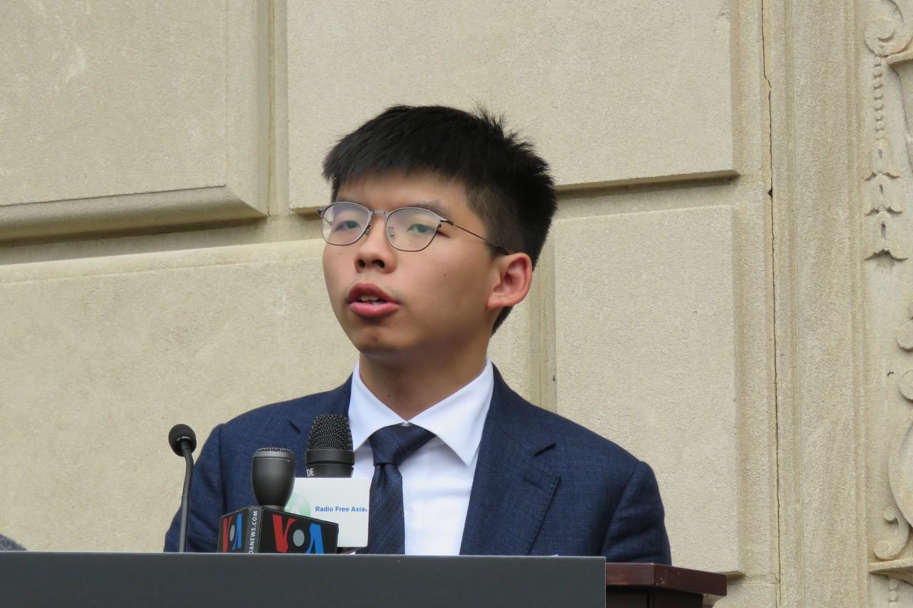 影/黃之鋒訪華府 盼美政府更支持香港