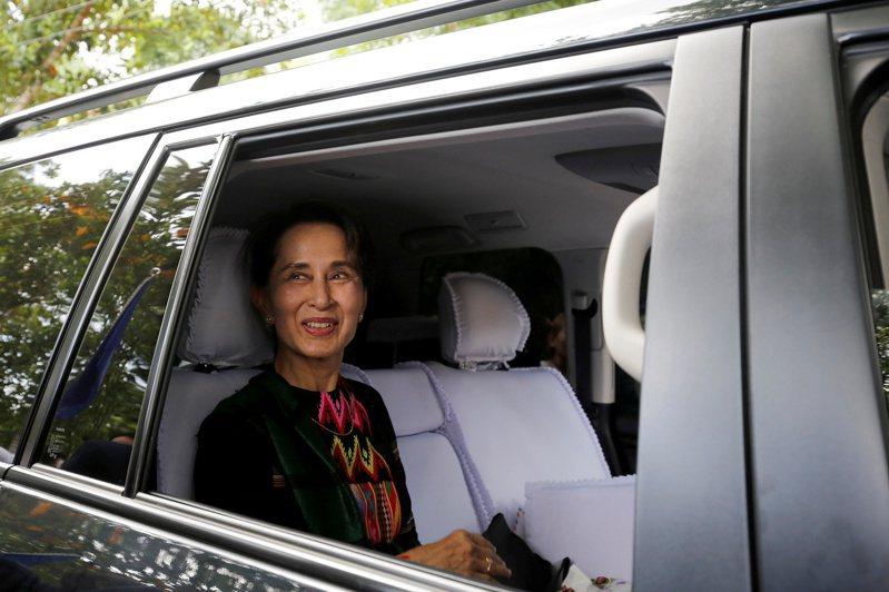 緬甸國務資政、諾貝爾和平獎得主翁山蘇姬。路透