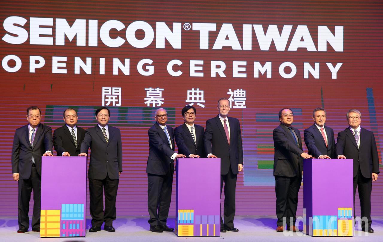 台北國際半導體展(SEMICON TAIWAN)上午開幕,行政院副院長陳其邁出席...