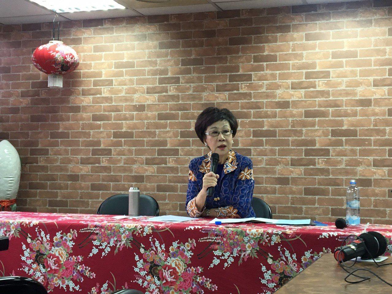 前副總統呂秀蓮將代表喜樂島聯盟黨參與總統選舉。記者周佑政/攝影