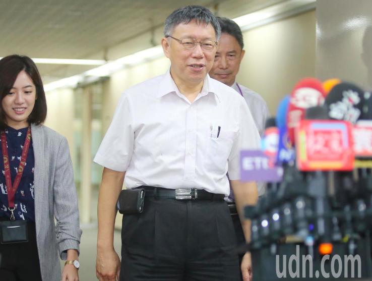 台北市長、民眾黨主席柯文哲。記者曾學仁/攝影