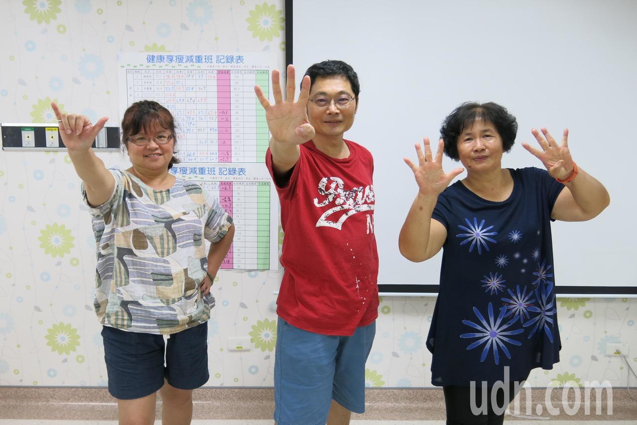 衛福部豐原醫院新陳代謝科團隊今年舉辦減重活動,民眾在短短40天,每個人至少都成功...