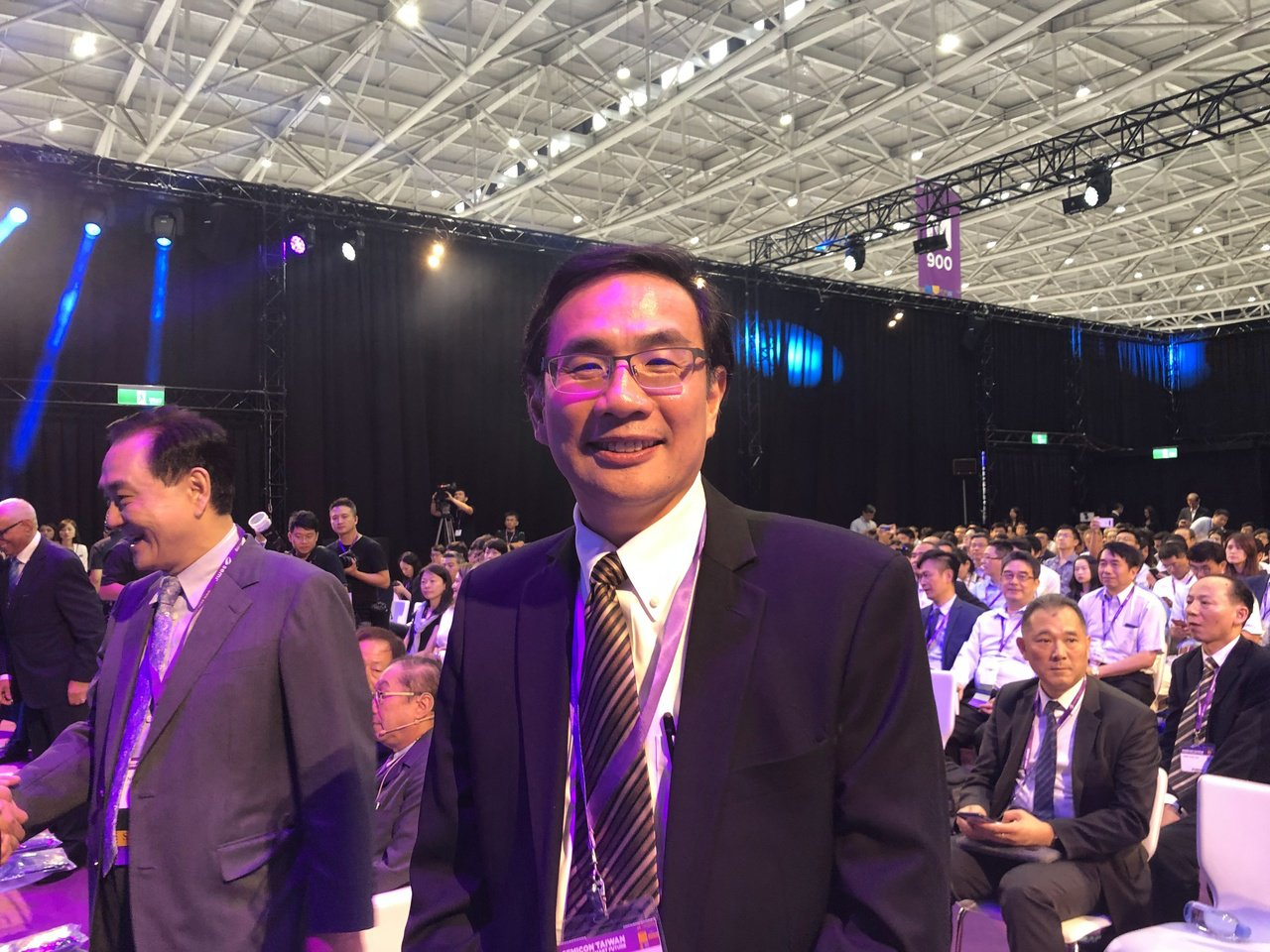 鴻海s次副總陳偉銘今日出席SEMICON 台灣並發表演講。記者尹慧中/攝影