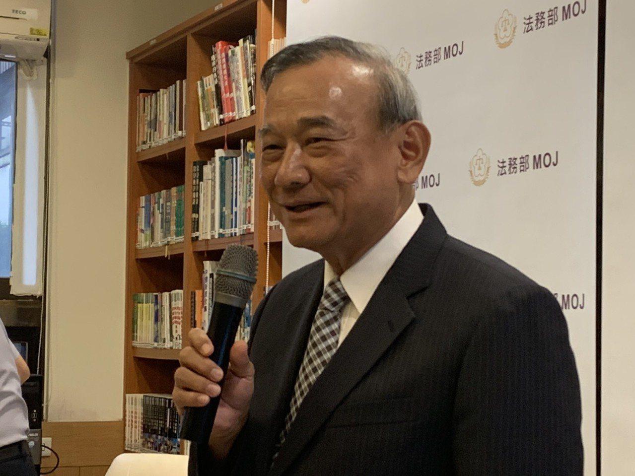 法務部政務次長陳明堂說,法務部對廣大興案判決感到欣慰。記者王聖藜/攝影