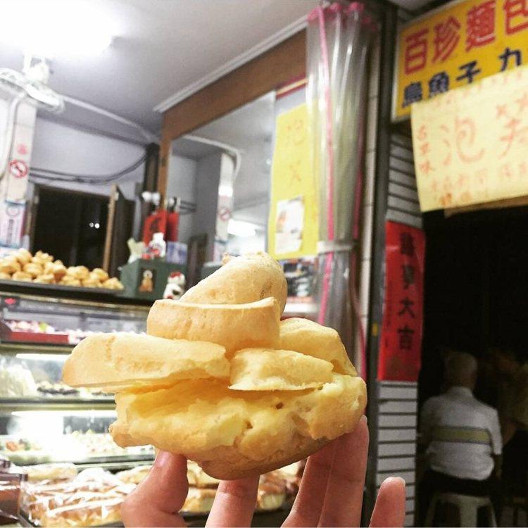 台南百珍麵包蛋糕的台式大泡芙,樸實無華就像兒時點心。IG @b20072001 ...