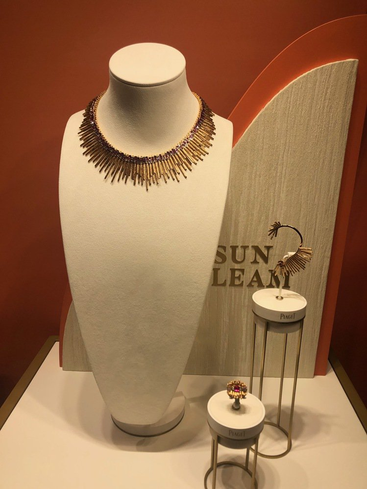 伯爵金燦綠洲系列頂級珠寶於曼谷展出。記者孫曼/攝影