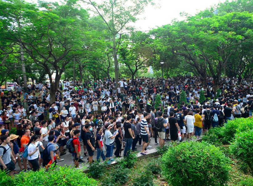 關注組計畫本周六再發起「屯門公園再光復遊行」,收到香港警方反對通知書。(星島網)