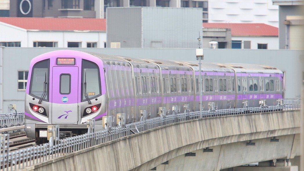 桃園機場捷運今天下午發生列車電力跳脫事故,影響營運。圖/報系資料照
