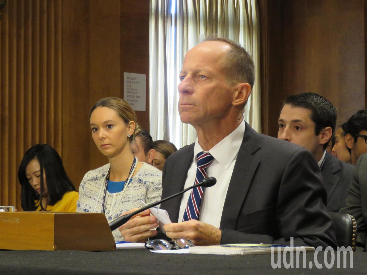 美國國務院亞太助卿史達偉18日出席參院外委會聽證會。華盛頓記者張加/攝影