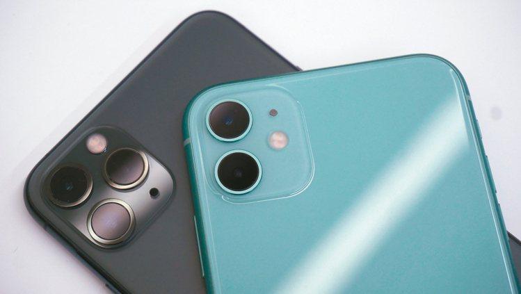 iPhone 11 Pro系列與iPhone 11最大的差異就在鏡頭數量。 記者...