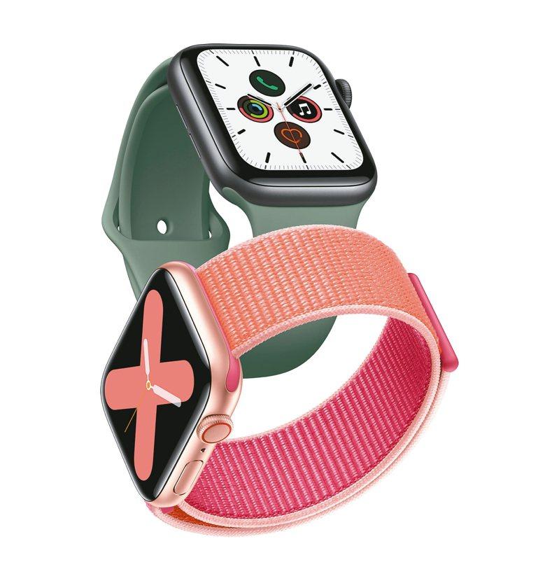 Apple Watch Series 5新登場,升級隨顯螢幕並推出新材質表殼。 圖/蘋果提供