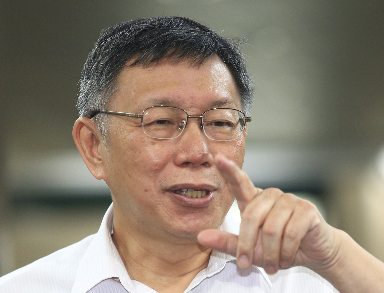 台北市長柯文哲回應媒體提問。 記者陳正興/攝影