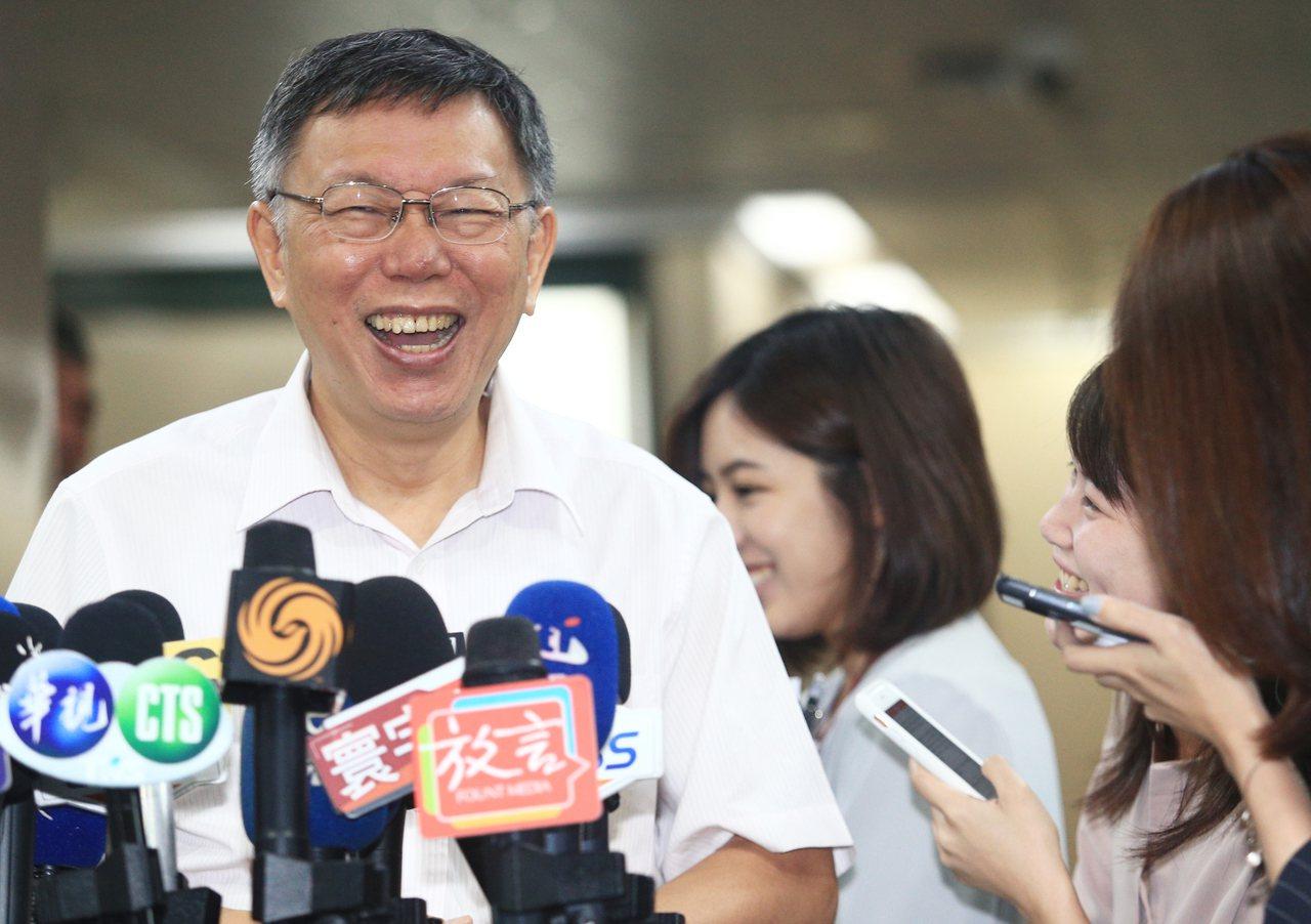 台北市長柯文哲。 記者陳正興/攝影