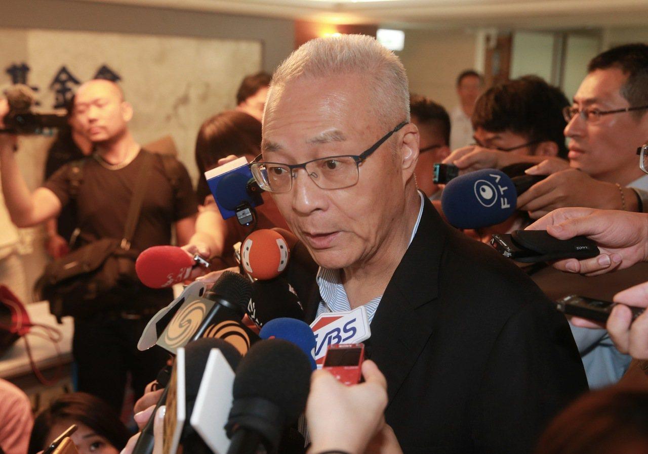 國民黨黨主席吳敦義。 聯合報系資料照/記者黃義書攝影