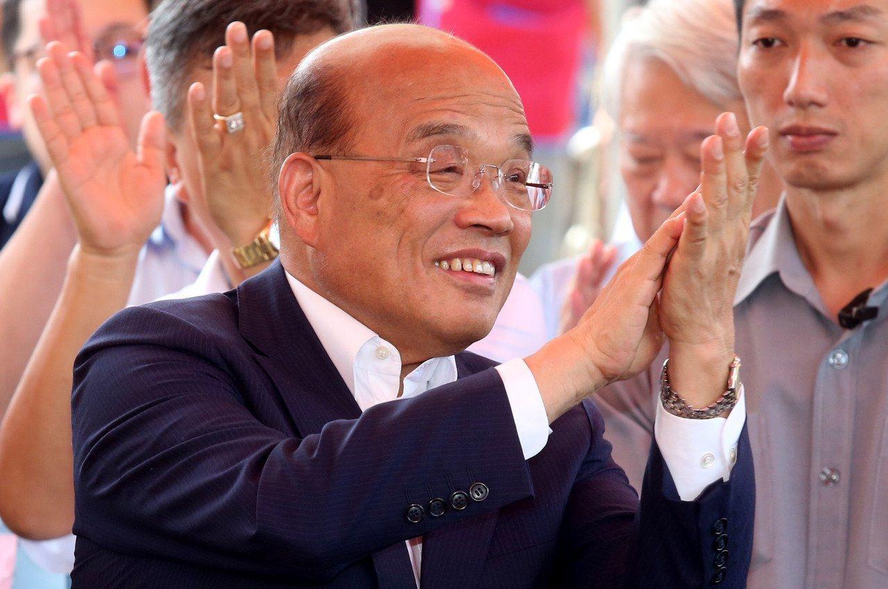 蘇貞昌2010年參選台北市長,在保安宮前演講宣布參選意願,並指自己「不會第三次選...