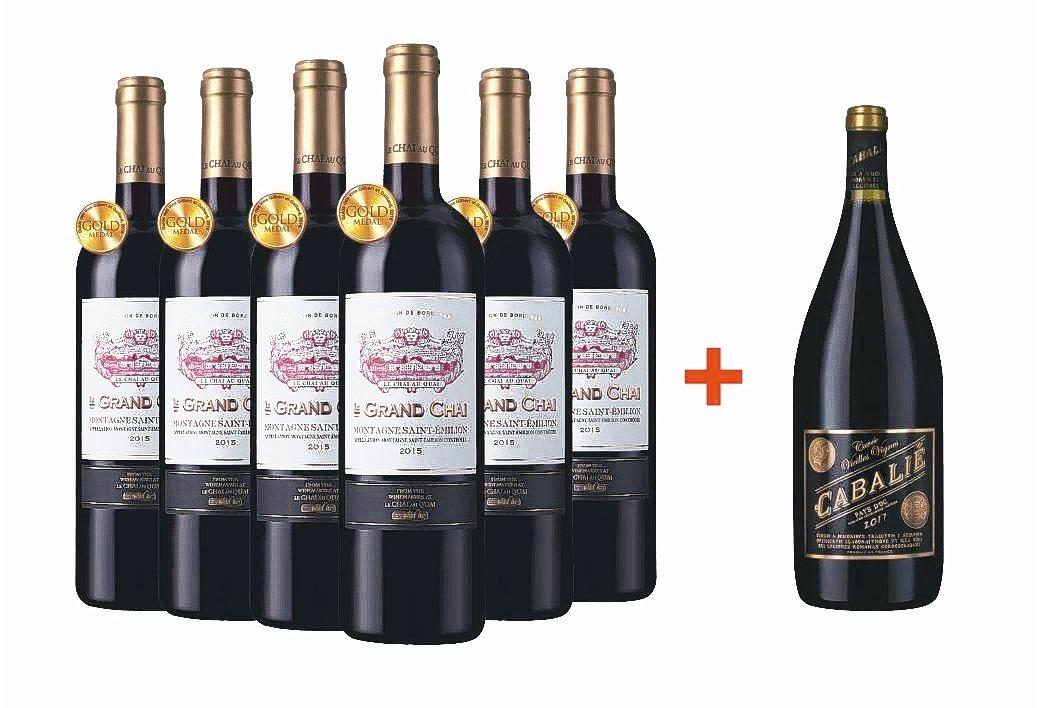 2015金獎波爾(左)6瓶+贈1瓶1.5公升大瓶裝黑標人氣佳釀,特惠價5,988...