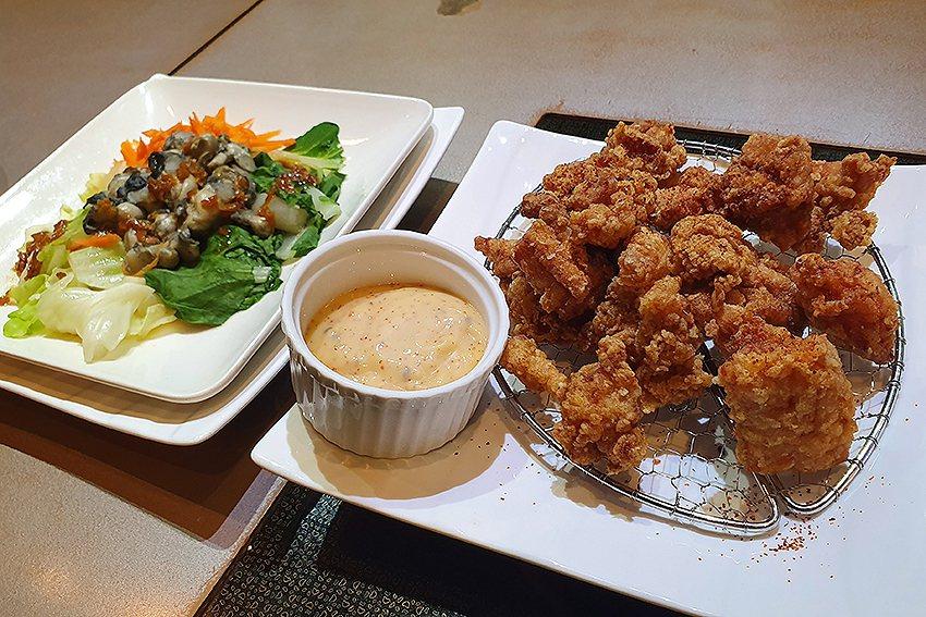 天和鮮物也堆出時尚的日式唐揚雞。 曹松清/攝影