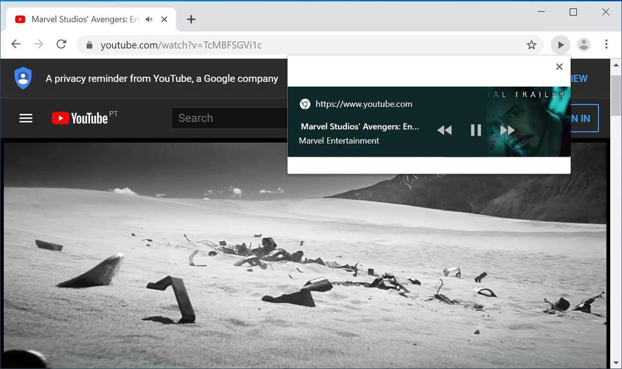 桌機版網址列新增可控制各分頁「媒體播放的按鈕」圖擷自bleepingcomput...