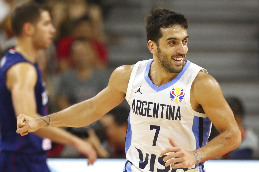 阿根廷後衛坎帕佐在世界盃表現出色,吸引不少NBA球隊有意網羅。 美聯社