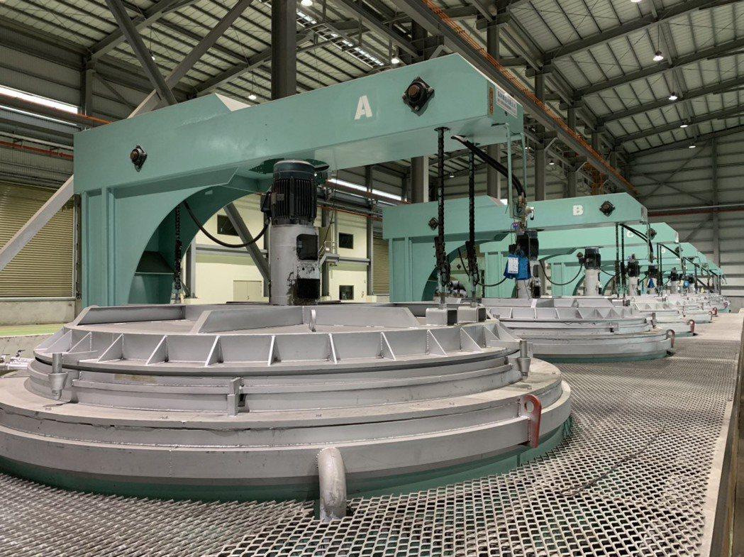 新廠-廠內球化爐區。 震南鐵線/提供。