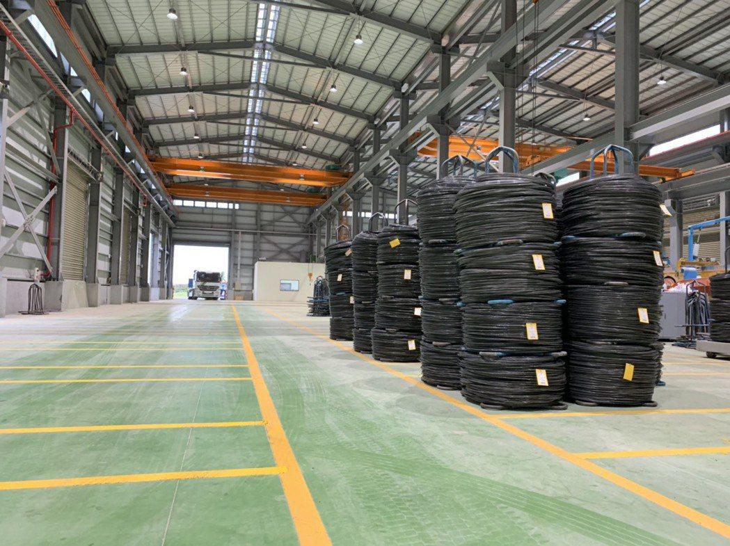 新廠-線材成品區。 震南鐵線/提供。
