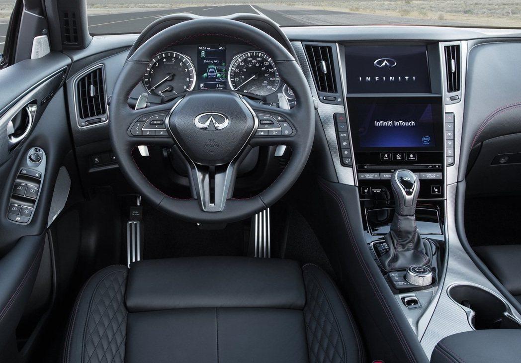 新年式Q50都獲得了新的Infiniti InTouch車載娛樂系統,可支援An...