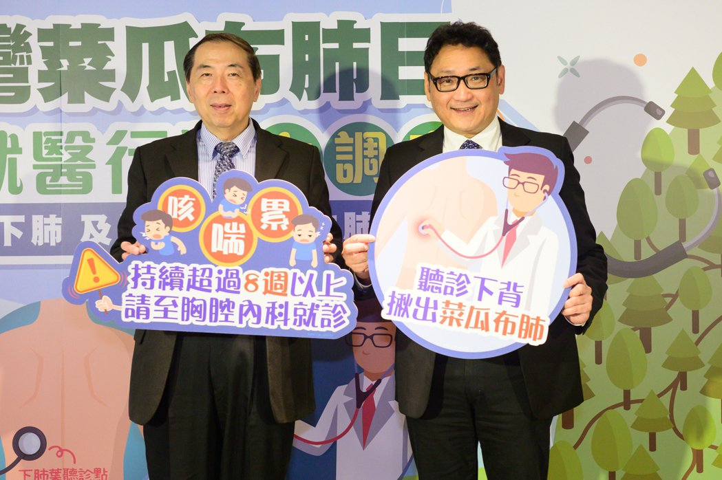 (左起)台大醫院內科部王鶴健教授、振興醫院內科部陶啟偉部長,共同呼籲國人千萬別將...