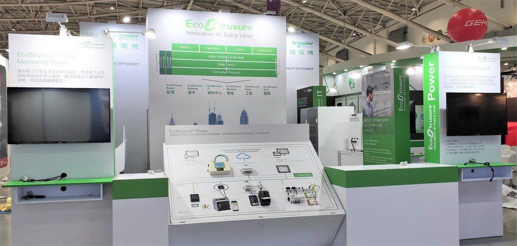 施耐德電機本次於國際半導體展發表EcoStruxure 工業物聯網架構於配電、機...