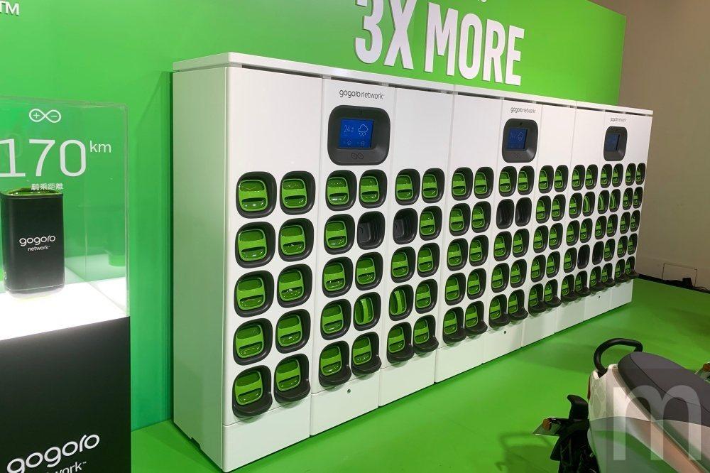 新電池交換站採方正機櫃設計,因此能在相同地點、相同空間放置兩組電池交換站,滿足更...