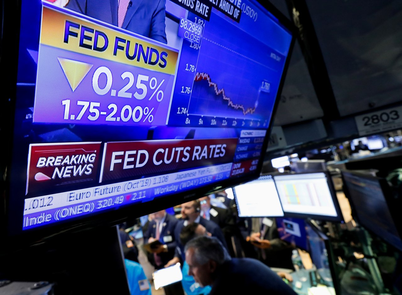 美國聯準會(FED)凌晨宣布降息1碼,是今年來第2次調降基準利率。 路透