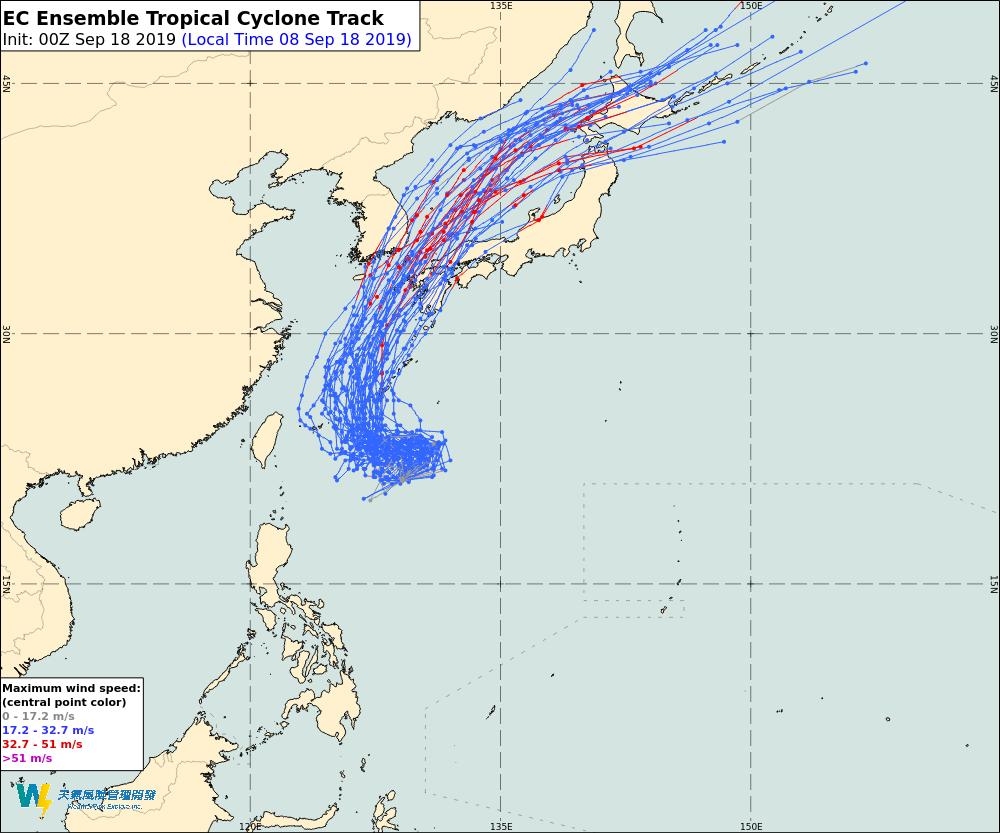 位於菲律賓東方海面的熱帶性低氣壓有機會發展成今年17號颱風塔巴,預期會在日本宮古...