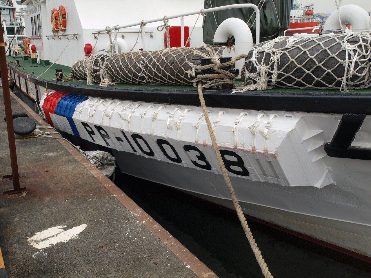 目前這款「船舷防碰裝置」加裝在澎湖海巡隊的PP-10038艇上,今天驗收通過,若...
