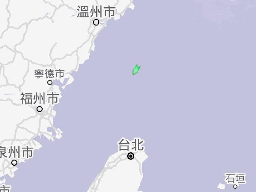 獅子山籍貨輪「JI SHUN」沉沒海域,船上13人均平安獲救。記者巫鴻瑋/翻攝