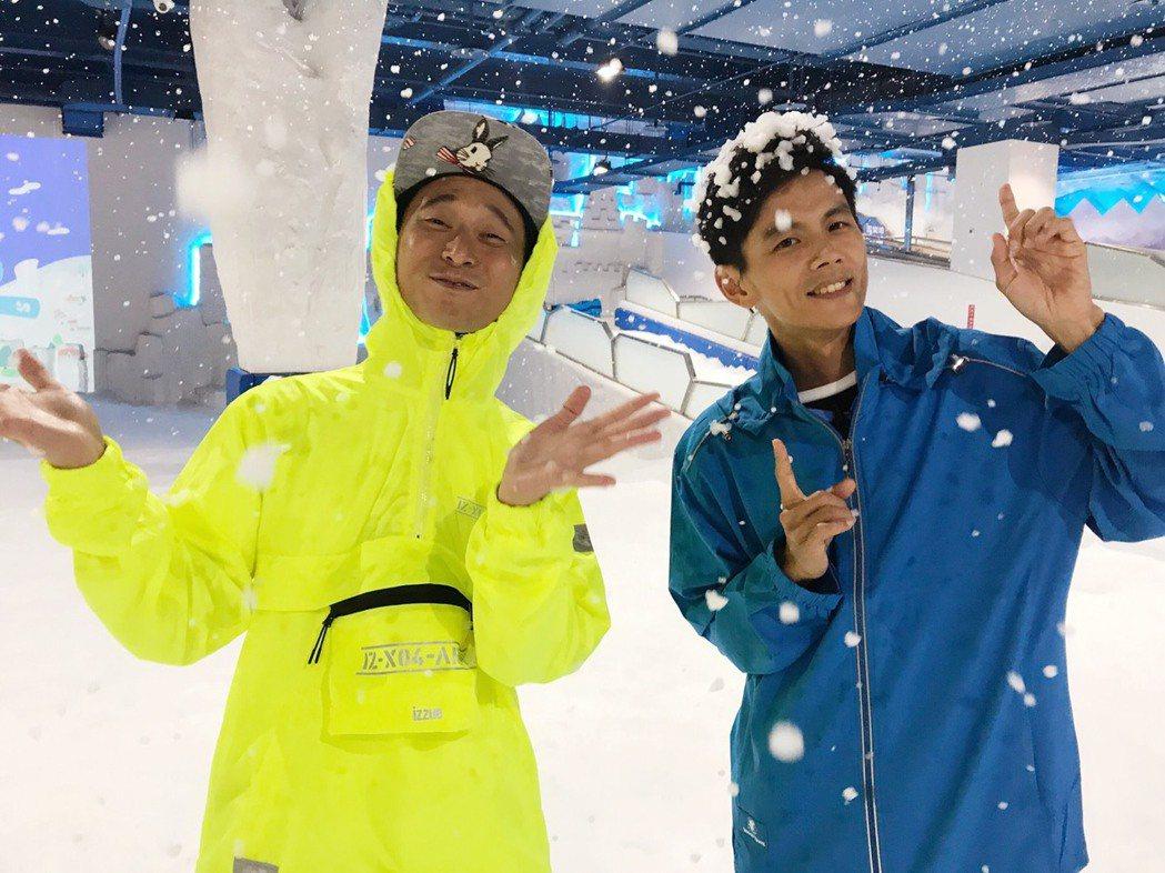 阿翔回歸「綜藝新時代」,和浩子繼續搭檔。圖/民視提供
