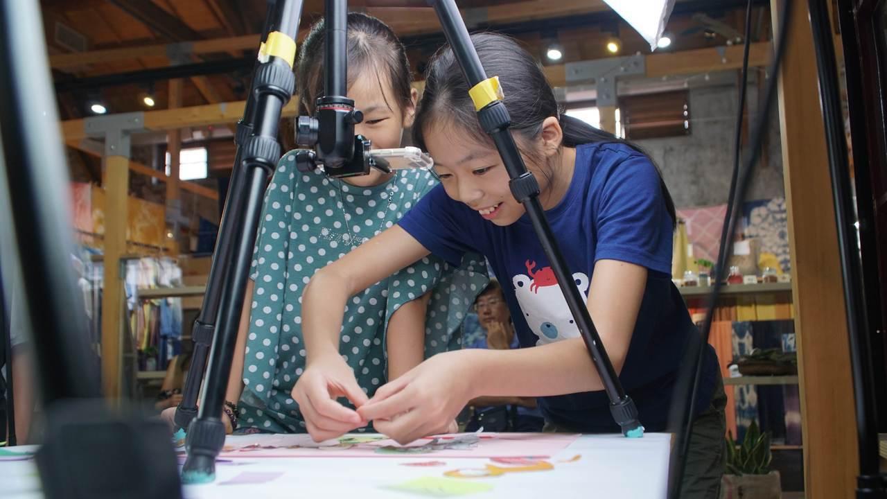 2019影像興樂園推出動畫體驗坊等課程,今年更首次舉辦的校歌創意MV徵件競賽。圖...
