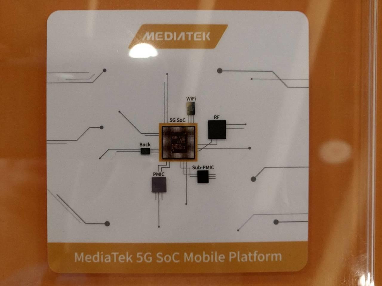 聯發科5G SoC首度亮相。記者鐘惠玲/攝影