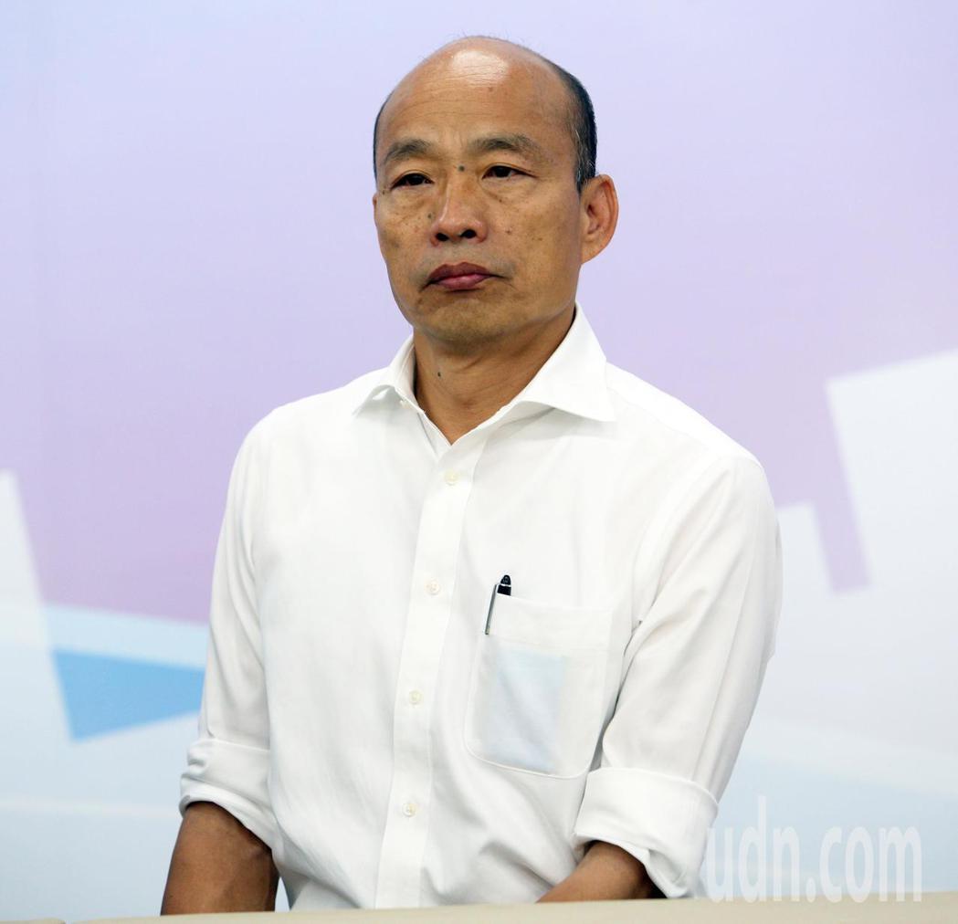 國民黨總統參選人韓國瑜推全民長照保險,每個月多繳「一個便當加一個滷蛋」的錢,由當...