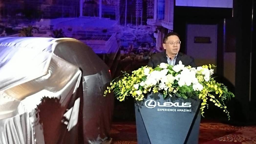 和泰車總經理蘇純興宣布LEXUS RX改款正式在台上市。黃淑惠