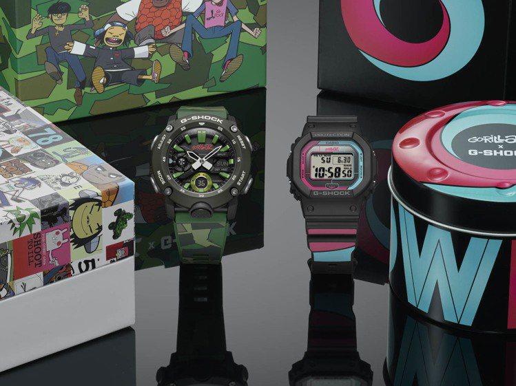G-Shock與虛擬樂團Gorillaz再度攜手,把經典的唱片封面化作表身的設計...