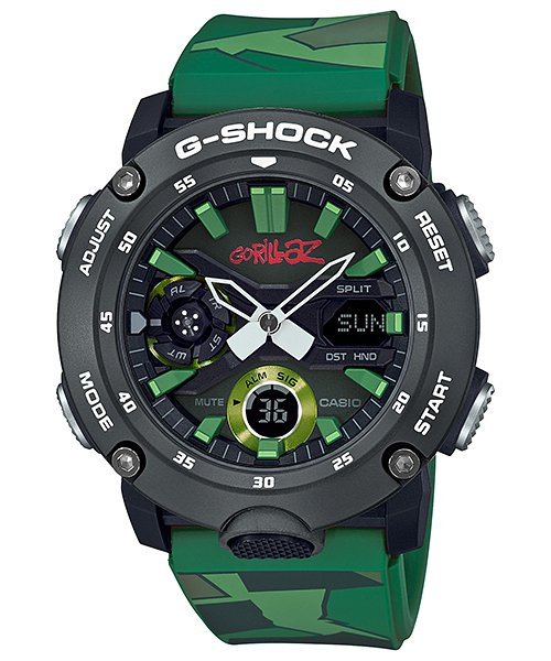 G-Shock GA-2000GZ腕表,採用碳纖維核心防護構造, 6,000元。...