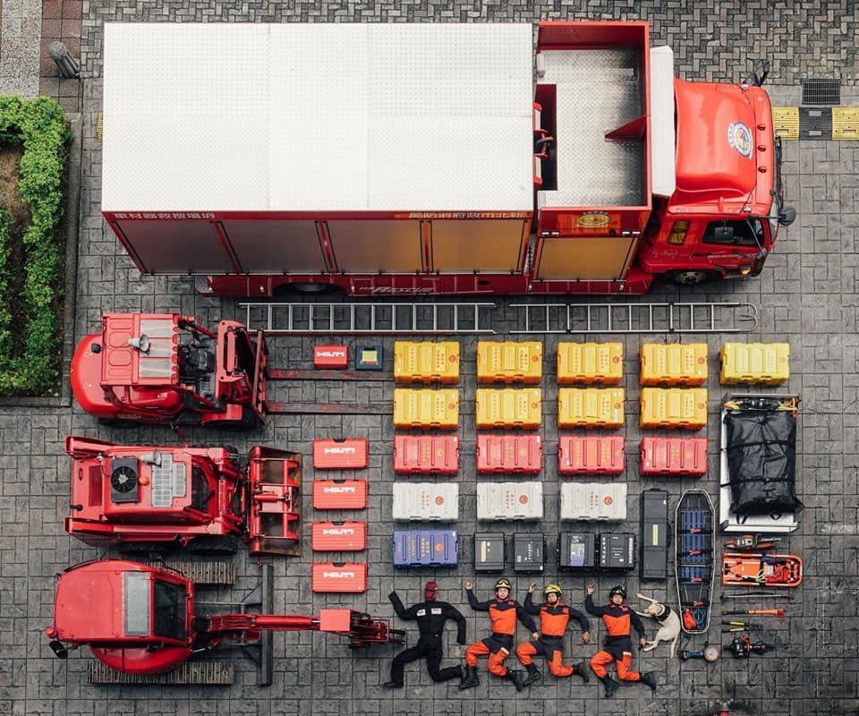 新北消防局進行「真人開箱挑戰」。圖/新北市府提供