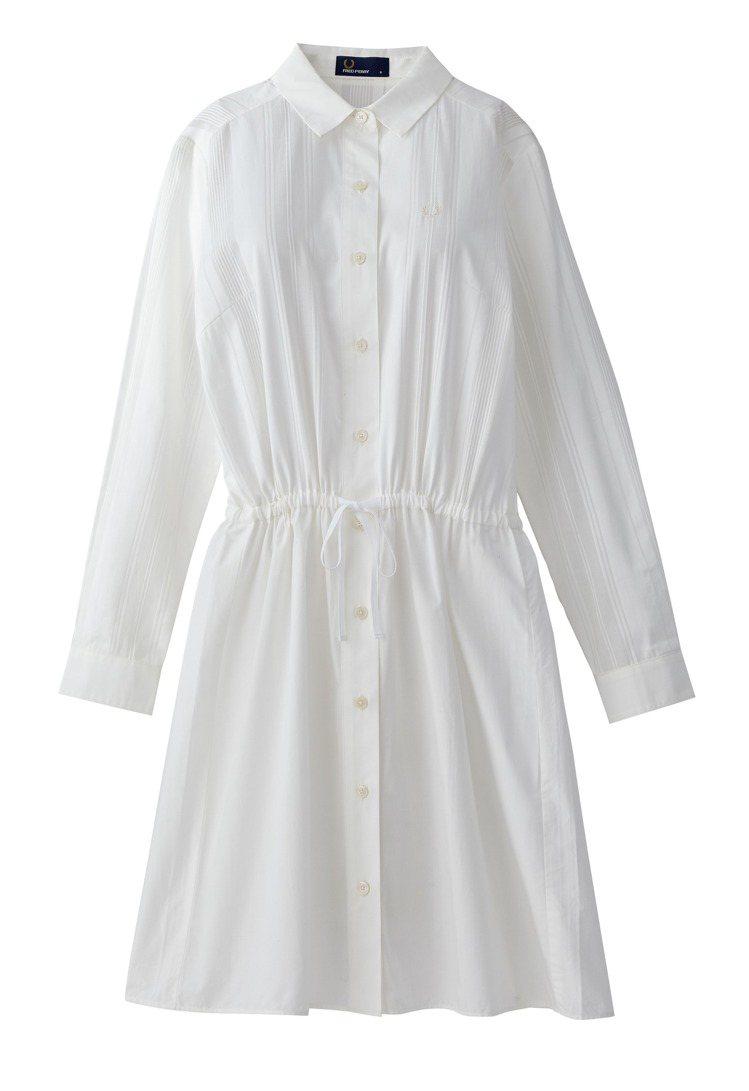 誠品生活南西獨家,FRED PERRY抽繩設計襯衫式洋裝原價7,880元,特價5...